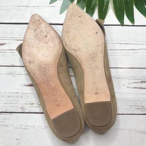 Ivanka Trump Shoes - {Ivanka Trump} sz 6 suede pointed toe nude flats